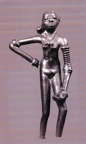 Bronze sculptur of dancing girl, Mohenjo Daro